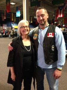 Gilles M. with Member of Parliament Joy Smith