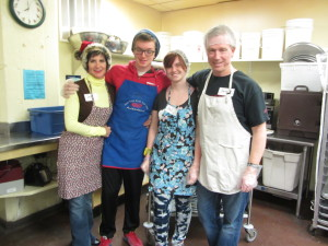 Our family volunteers at Siloam Mission.